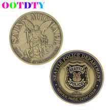 Saint Michael Seattle Police Department Commemorative Coin Zinc Alloy Commemorative Collection No-currency Coins MY20(China)