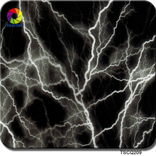 TSAUTOP Size 0.5m x 2m hydro dipping film water transfer printe sticker black lightning 209