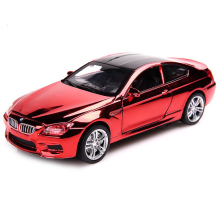 1:32 cool car model for BMW M6 Shining Cover Diecast Alloy Metal Car Vehicles Model Birthday Gift Children Boy Collection Toy