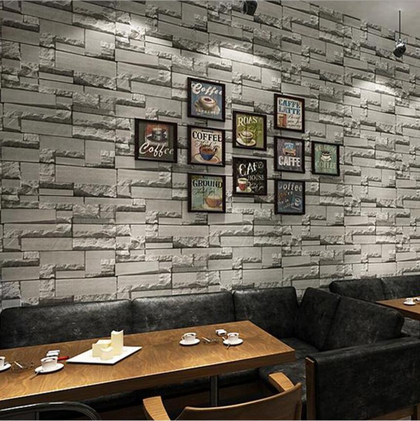 Brick wallpaper 3d non-wove  vintage bricks bricklike background wall wallpaper<br>