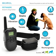 Anti barking stop bark pet dog electronic dog collar waterproof anti dog devices electric training collar remote control