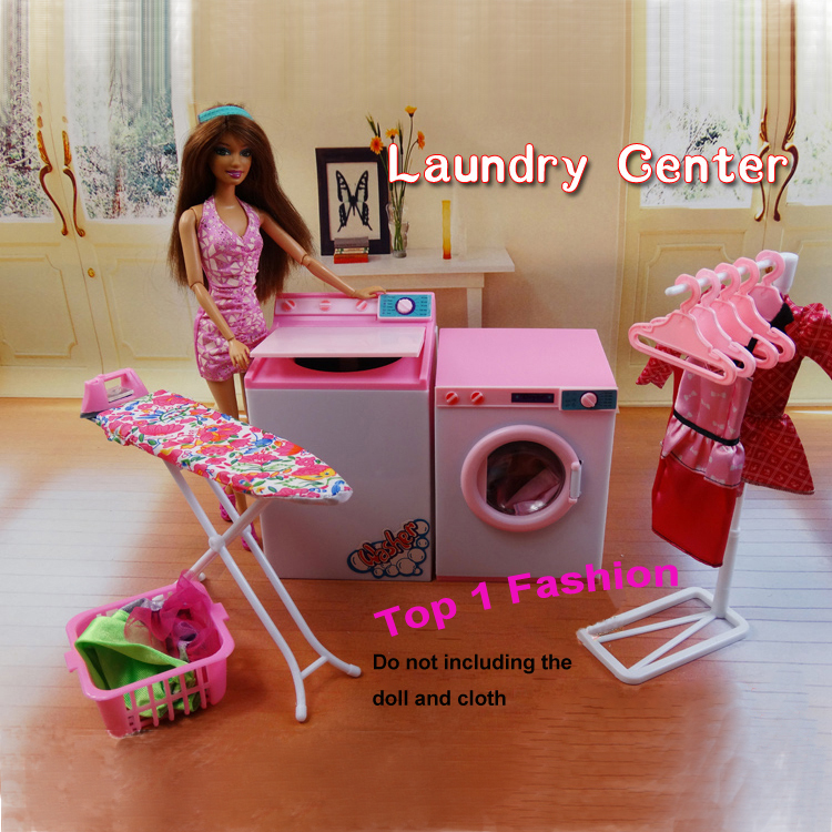 New arrival girl gift play toy doll house Laundry Center furniture for BJD simba lica monster high barbie dolls house<br>