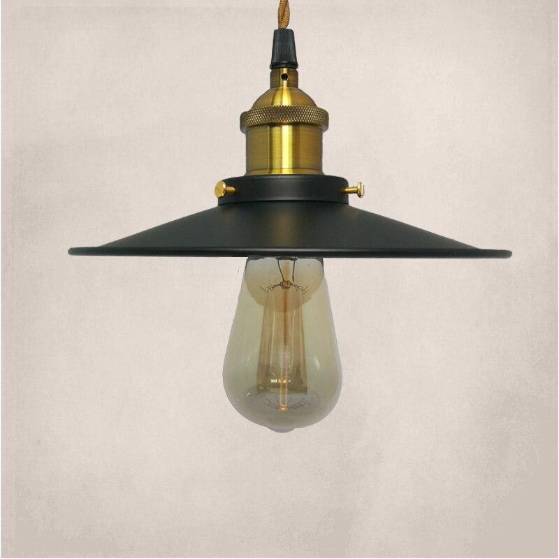 Fashional Pendant Lights,22CM/26CM/36CM E27 Vintage American Country Style,Black Shade Pendant Lights Club Bedroom Lights<br>