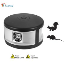 SaiDeng Ultrasonic Rodents and Squirrels Repeller Pressure Wave Pest Deterrent Control chaser Mole Rats and Insects Indoor Use10