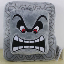 Thwomp Dossun Stuffed Animal Pillow Super Mario Plush Cushion Cuddly Doll Home Textile