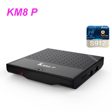 5PCS Tv Box KM8 P Android TV Box Amlogic S912 Octa Core CPU 1GB+8GB 2GB+8GB 2GB+16GB Android 7.1 DHL Ship