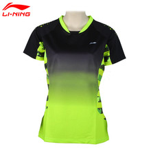 Li-Ning Women's Professional Badminton Shirts Quick Dry Li Ning Breathable Jersey Sports Athletic T-Shirt Lining Tops AAYK128
