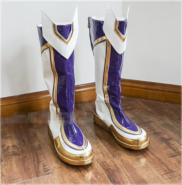The Popular Game LOL  Cosplay Shoes Guardian of the Star Ezreal Shoes Custom Made A