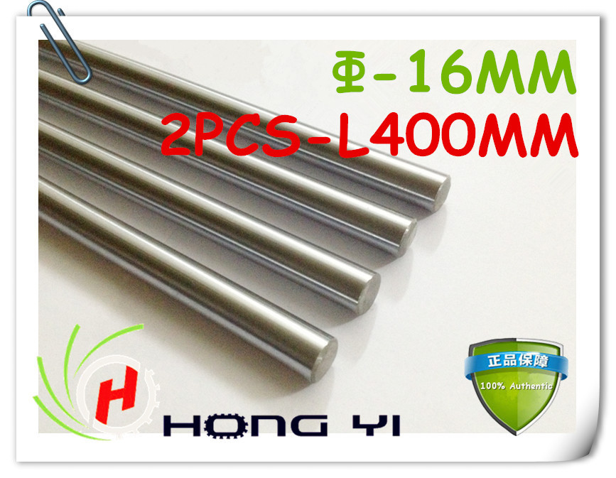 2pcs SFC16 mm - L400mm chrome plated Cylinder Linear Rail Round Rod Shaft Linear Motion Shaft for CNC XYZ<br>