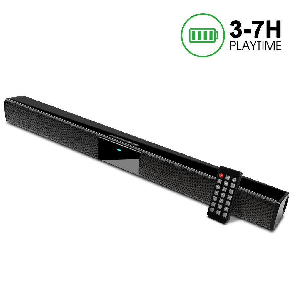 Speaker Subwoofers Batteries Soundbar Bluetooth 22-Inch Wireless for with Built-In And title=