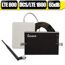 Lintratek 4G LTE 800mhz LTE 1800mhz Dual Band Signal Booster B20 B3 GSM Repeater DCS 1800mhz Amplifier Outside  Inside Antenna