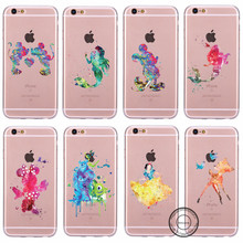 New Arrivals Snow White Monsters University Mickey Minnie Mermaid Bambi Tinker Bell Soft TPU Case For Apple iPhone 5 5s 6 6s