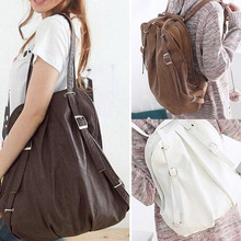 Lady Korea Style PU Leather Handbag Shoulder Bag Womens' Pouch Tote Messenger Bagpacks For Women Teenager Girl 3 Colors 40