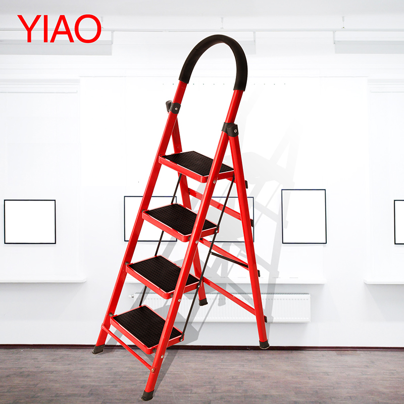 4-STEP METAL Folding Ladder HOUSEHOLD Construction TOOLS<br><br>Aliexpress