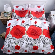 Bedding supplier king 3d bedding set, wedding favors and gifts Home textile family set Include: sheet,duvet cover pillowcase(China)