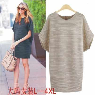 8a67948e9f Detail Feedback Questions about Retro Plus Size Batwing Sleeve Summer Dress  Vetement 2018 Women Dress Elegant Luxury Streetwear Linen Striped Dress  HJ409 on ...