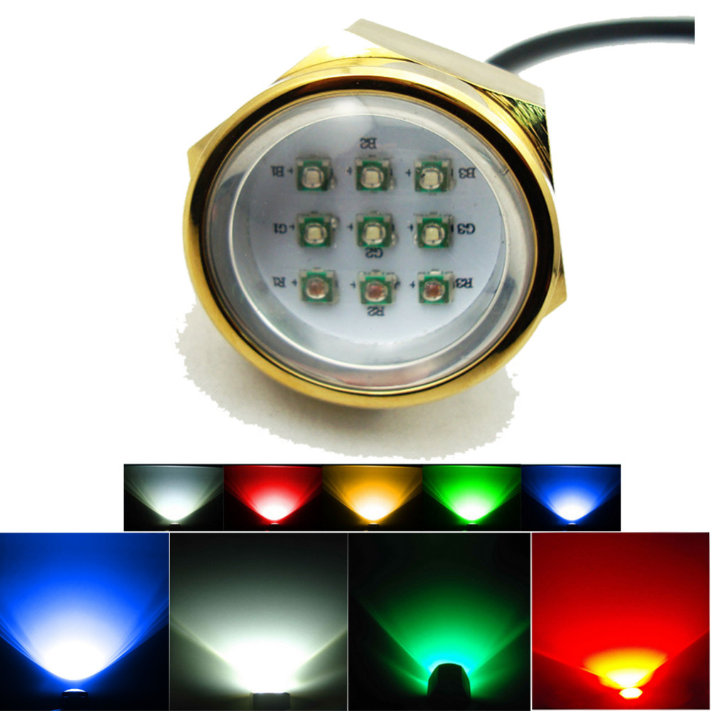 Marine Boat Yacht Light 27w RGB remote LED Boat marine light Underwater Light 12v<br><br>Aliexpress