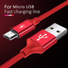 Andriod Micro USB Charging&Sync Data Cable Fast Charge Samsung S6 Xiaomi Redmi Note 4 4X Phone Short Charger Cord 0.25/1/3M