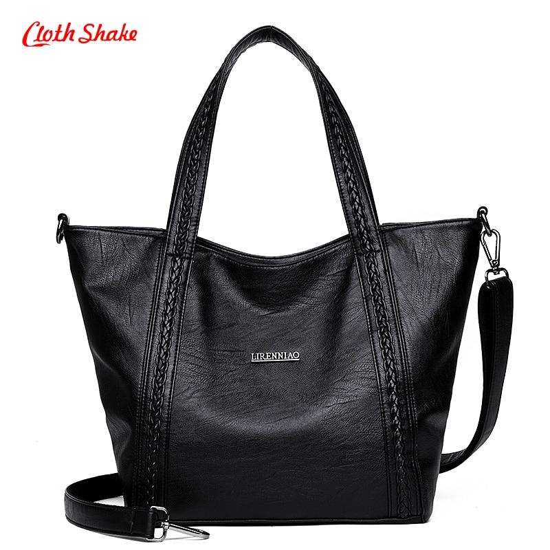 Fashion Ladies Waterproof Soft Bag PU Leather Womens Handbag Shoulder  Lightweight Big Bag High Capacity elegant Satchel<br>