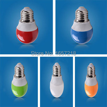 1pcs E27 2W LED Bulb Shell Color Red Green Blue Orange White LED Light Bulb Energy-Saving lamps 220V(China)