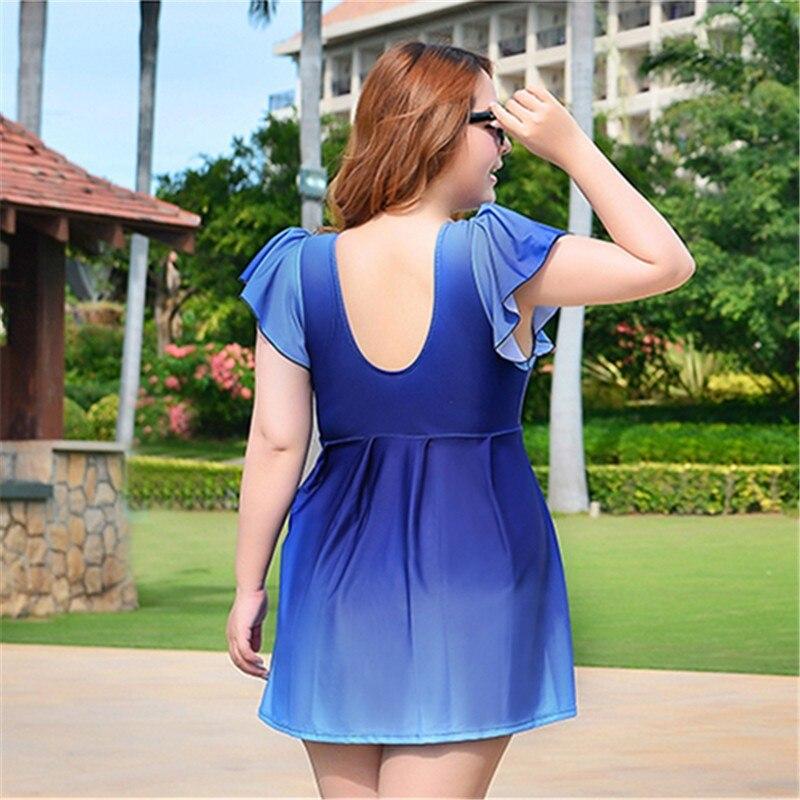 2018 Swimming Suit For Women Maillot De Bain Swimsuit Plus Size Swimwear Dress Female Push Up Bra Gradient Color Bathing Suit<br>