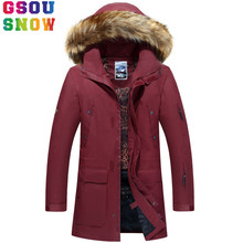 GSOU SNOW Brand Ski Jacket Men Snowboard Jackets Fur Hooded Waterproof Plus Size Men Snow Long Sport Clothing Windproof Ski Wear(China)