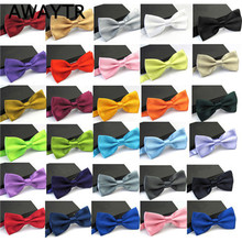 AWAYTR 2017 Ties for Men Fashion Tuxedo Classic Mixed Solid Color Butterfly Wedding Party Bowtie Bow Tie(China)