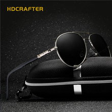 Men's Designer Pilot Polarized Sunglasses Vintage Sports Outdoor Aviator Male alloy Sunglasses Eyewear UV(China)