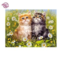ANGEL'S HAND DIY Diamond Embroidery 5D Diamond Painting Cross Stitch Mosaic flower cats  Pattern Full round Rhinestone painting