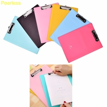 Peerless 1pcs Office School Supplies clipboards A4 notes folder write sub-plate holder WordPad Paper File Folder Holder