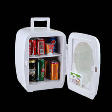 2017 New Smad 15L 110V Glass Door Display Mini Fridge High Quality 12V Car Refrigerator Portable Beverage Cooler Warmer
