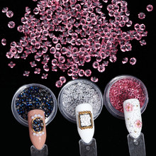 6pcs set Micro Zircon Nail Art Rhinestones Colorful Crystal 3D Glitter  Stone Clear AB Shiny Glass For Nail Art Decorations TRZ02 9869c2ceb23e
