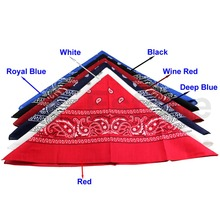 Hot 1pcs Cotton Paisley Bandana HeadWrap Hair wrap Double Side Print 1 pc Cotton Scarf Headband