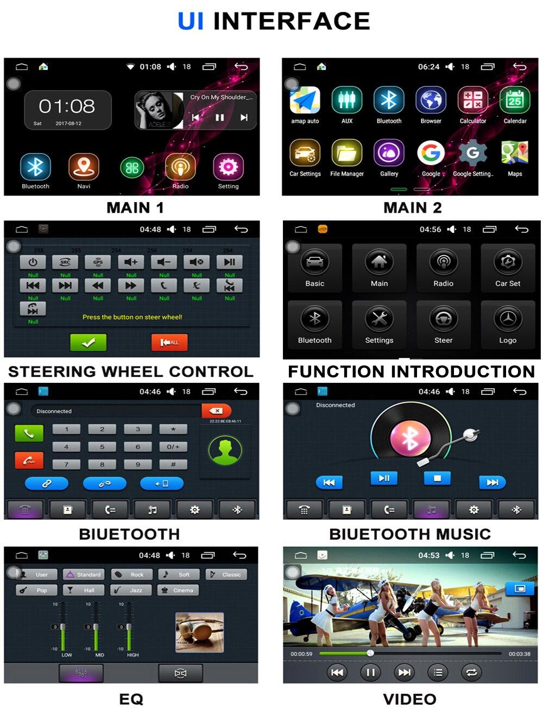 Quad Core 1024600 Android 6.0 Car DVD GPS Player For Solaris Verna Accent Car PC Headunit Car Radio Video Player Navigation ui