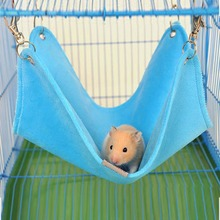 Autumn and Winter Plush Cloth Hamster Chinchilla Hammock Guinea Pig Rabbit Hanging Bed Cage Accessories Pet Toys