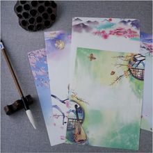 8 Pages/Set Vintage poetry illustration Season Plants Flowers Painting Letter Paper Writing Paper Love Letter Stationery(China)