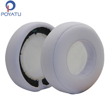 POYATU Earpads Pair White Headphone Replacement Ear Pads For Monster Beats PRO Headphone Earpads For DETOX Earpads(China)