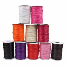 15meter/pack width 1mm HOT fashion colorful wax line/Wax wire/Wax cords Jewelry Cord DIY Accessories Jewelry Findings(China)