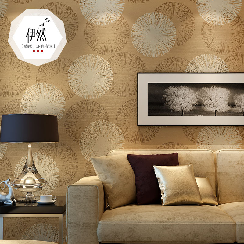 Non-woven wallpaper tv background wall wallpaper modern brief style wallpaper<br>
