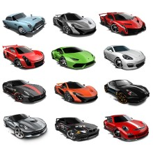 1pcs/lot Hot Wheels Random Styles Mini Race Cars Scale Models Miniatures Alloy Cars Toy Hotwheels For Boys Birthday Gift