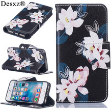 Desxz phone case for iPhone5G SE Luxury Painted Cartoon Wallet PU Leather Phone Cases for iphone 5g se(China)