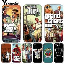 Yinuoda для iphone 7 6 х чехол Grand Theft Auto GTA V восхищения чехол для iphone 7X6 6 s 8 Plus X 5 5S SE XR XS XSMAX(China)