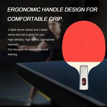 REIZ 2401 Table Tennis Racket Set Short Or Long Handle Shake-hand Ping Pong Paddle Set With 3pcs Balls Match Training Racket