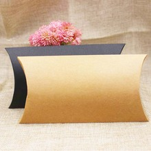 zerongE jewelry paper candy packing box gift pillow display box black/kraft cardboard products packing box custom cost extra(China)