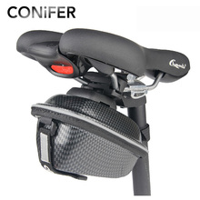 Conifer New Bicycle Bag Rainproof Saddle Bag Reflective Bike Bag Shockproof Rack Tube Cycling Rear Seat Bag MTB Bike Accessories