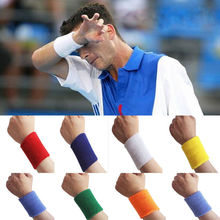 2 pc Unisex Sports Sweat Yoga Gym Stretch Wrist Band Sweatband Handband wristband 10 colors(China)