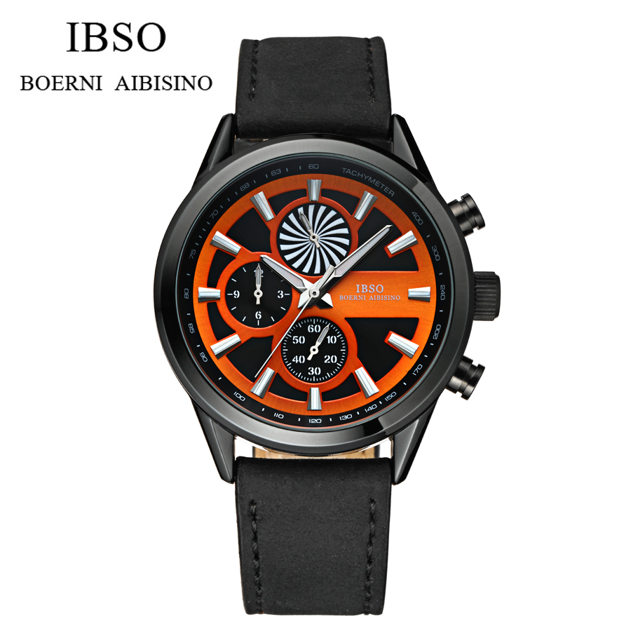 2016 Hot Sale IBSO Watches men luxury brand Sports 30M waterproof Military watches Genuine quartz watch relogio masculino<br>
