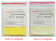 sell temperature sensitive pigment, 31celcius yellow thermochromic pigment,1 lot=200gram free shipping(China)