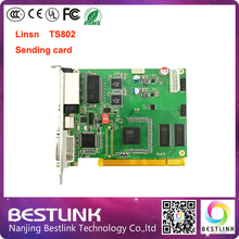 TS802D RGB sending card 640*2048 pixel video synchronous control card Linsn TS802 sending board for p10 outdoor LED screen