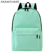 ANAWISHARE Women Canvas Backpacks Large School Bags For Teenagers Girls Rucksack Mujer Mochila Escolar Feminina Travel Bags W9